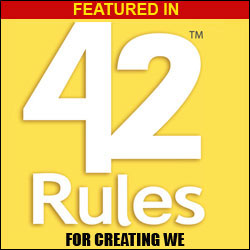Featured in 42 Rules for Creating WE
