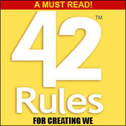 A must read - 42 Rules for CreatingWe